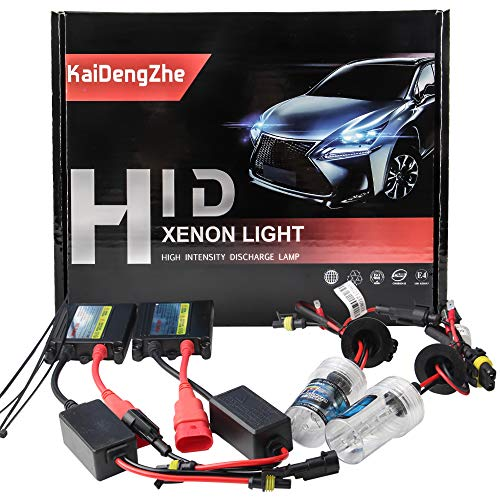 KaiDengZhe 2 Pezzi H7 HID Kit di conversione Xenon HID+Slim Ballast Alimentatore da 55 W Slim Ballast 6000K 12V Super Bright-High Quanlity