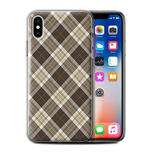 Stuff4 Phone Case/Cover/Skin/IP-GC/Tartan Picnic Pattern Collection Apple iPhone XS Bruin