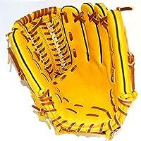野球グローブ 12インチPU野球用手袋ソフトボールインフィアルダー手袋 初心者の野球グローブ (色 : Yellow, Size : 12 inch)