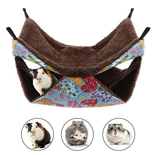Pet Bed, Ferret Hangmatten Zacht bed voor konijnen Papegaaien Deken Opgeschort Dubbellaags Warm bed voor Guinese Chinchilla Kitten Eekhoornmuizen