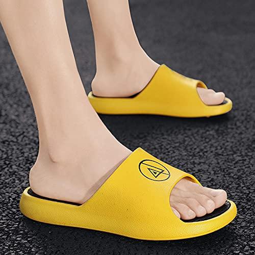 ypyrhh Baño Sandalia Suela De Suave,Use Zapatos de Playa de Corte Grueso, Ligero-Amarillo_40,Verano de Las Mujeres Casual Chanclas