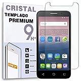 REY Protector de Pantalla para Alcatel One Touch Pop 3 5.0' Cristal Vidrio Templado Premium