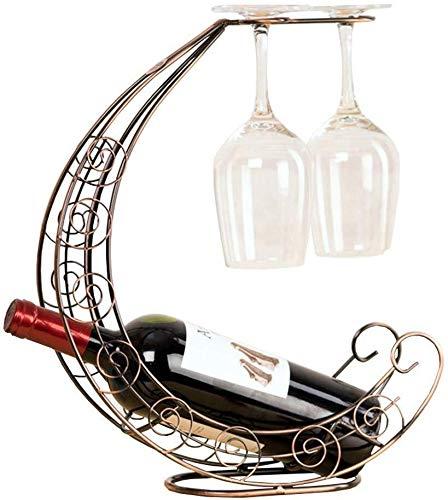 HJXSXHZ366 Estantería de Vino Europea botellero botellero de Madera Creativa de la Moda Vino de Vidrio de partículas Soporte de la Barra de Estante de Vidrio de Vino Estante de Vino pequeño