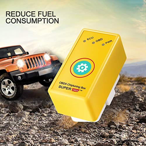 BESTEU OBD2 Plug and Drive Performance Chip Tuning Box pour Essence Benzine Essence Voitures Puissance Couple Carburant optimisation