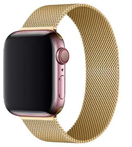 Bucle milanés para correa de reloj de Apple 44 mm 40 mm 38 mm 42 mm Correa de metal de acero inoxidable correa pulsera iWatch serie 5 4 3 se 6 correa