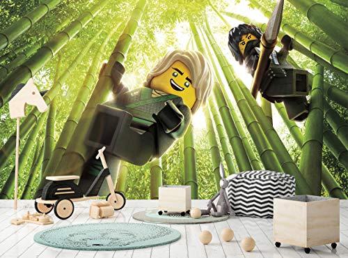 Papel pintado fotográfico de Lego Ninjago, para habitación infantil, dormitorio, cuarto de bebé, diseño de dibujos animados, 366 cm de ancho x 254 cm de alto, póster gigante de papel