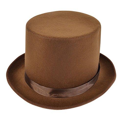 Top Hat. Wool Felt Brown