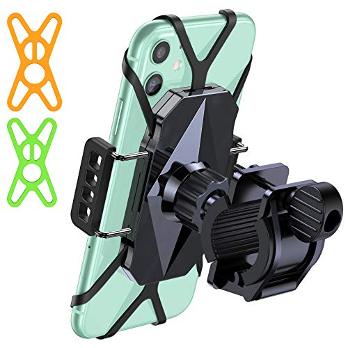 VICSEED Metal Bike Phone Mount Ultra Stable & Anti Shake Cell Phone Holder for Bike Bicycle Motorcycle ATV Mountain Handlebars for iPhone SE 11 Pro Max XS XR X 8 Galaxy S20 S10 S9 S8 Note 20 etc