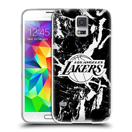 Head Case Designs Ufficiale NBA Marmoreo 2019/20 Los Angeles Lakers Cover in Morbido Gel Compatibile con Samsung Galaxy S5 / S5 Neo