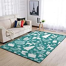 Raainhao Alfombra verde de Navidad súper absorbente para comedor, alfombra de casa de campo, borde negro, blanco, 50,8 x 81,2 cm