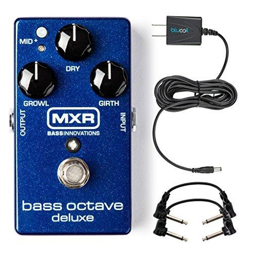 MXR M288 Bass Octave Deluxe Pedal Bundle with Blucoil Slim