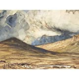 Huet Mountains of Auvergne Painting Large Wall Art Poster
