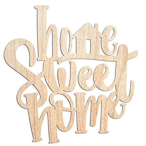"""Cartel de madera con texto en inglés """"No marks"""", de madera, de 35,5 cm, para regalo de boda, cortado con láser, texto en inglés """"Home Sweet Home"""""""