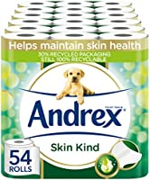 Andrex Toilet Roll - Skin Kind Toilet Paper with Aloe Vera Extract, 54 Toilet Rolls