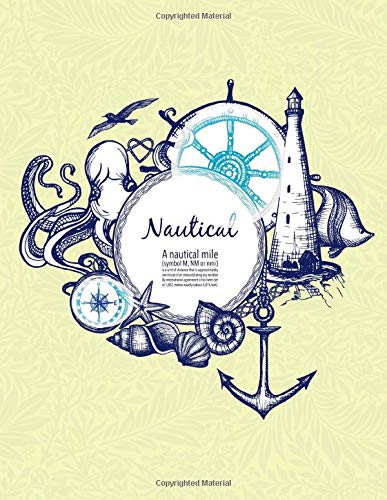 Nautical: a4 lined notebook, blank notebook paper,whitelines grid notebook,whitelines graph notebook,cute lined paper,large lined paper,ruled lined ... amazon,leather journal amazon,a4 journal
