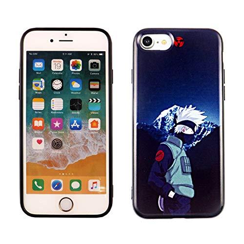 iPhone SE 2020 TPU Case CASEVEREST 3D Print Design Slim Fit Cover iPhone SE Naruto Kakashi Japanese Anime Manga iPhone 6S 7 8