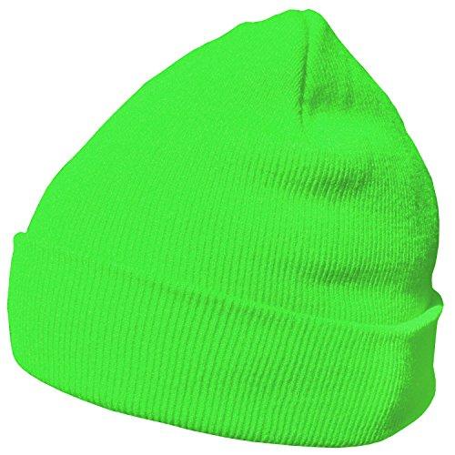 DonDon Wintermütze Mütze warm klassisches Design modern und weich neongrün