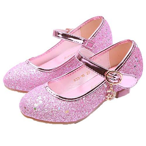 Niños Zapatos de Princesa Zapatos para niñas Sandalias de tacón Alto niños...