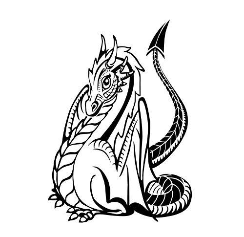 LEIWUQIZ Wandaufkleber Gotik Drachen Wandaufkleber Kinderzimmer Wanddekoration Tier Wasserdicht...