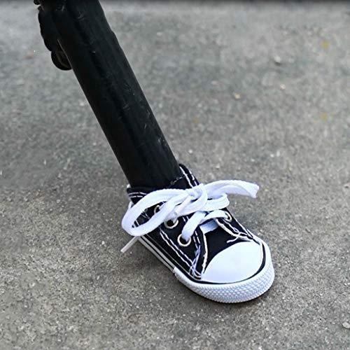 Motorradständer, Seitenstativ, Dekoration, Schuhe aus Canvas, für Motorrad, Fußstütze für Mode, kleine Schuhe, Fahrradständer, Schwarz
