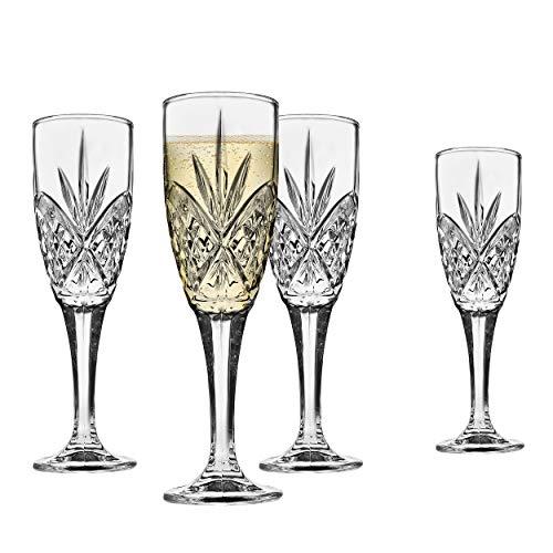 Godinger Dublin Crystal Champagne Flutes - Set of 4