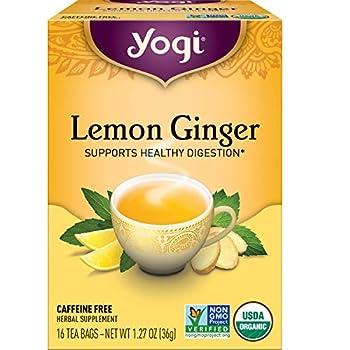 Yogi Tea - Lemon Ginger  6 Pack  - Supports Healthy Digestion - 96 Tea Bags
