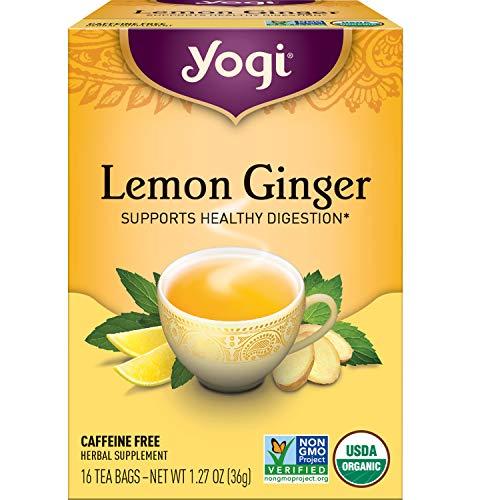 Yogi Tea - Lemon Ginger (6 Pack) - Supports Healthy Digestion - 96 Tea Bags