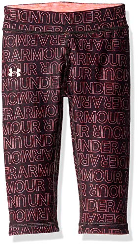 Under Armour Girls' Toddler Core Active Capri Leggings, Black Wordmark, 4T