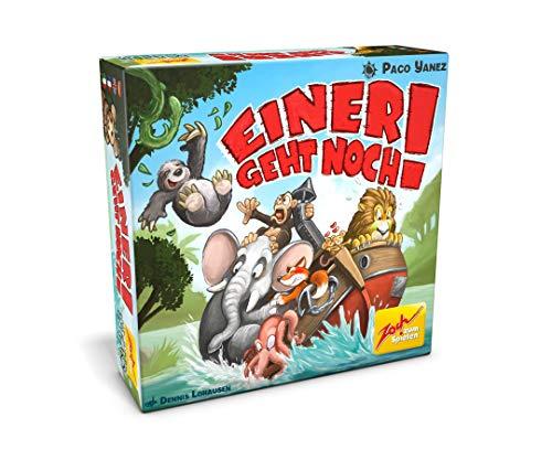 Zoch 601105145, Einer geht noch, Ein federleichtes Kartenspiel für Groß und Klein um gewichtige Tiere schlau zu verteilen, ab 8 Jahren