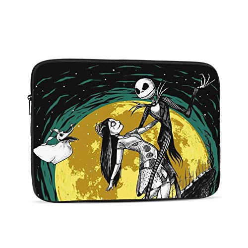 Anime Nightmare Before Christmas Laptop Sleeve Case Bag Cover Lightweight Notebook Computer Liner Bag Shockproof Computer Pocket Case Fashion Durable Carrying Cover Protective Bag 15 Inch