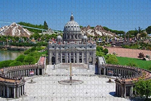 Italia Rimini Park Miniatures Rompecabezas para adultos 1000 piezas Regalo de viaje de madera Recuerdo