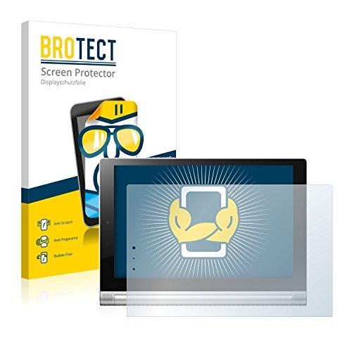 BROTECT Schutzfolie kompatibel mit Lenovo Yoga Tablet 2 10.1 2-1050F (2 Stück) klare Bildschirmschutz-Folie