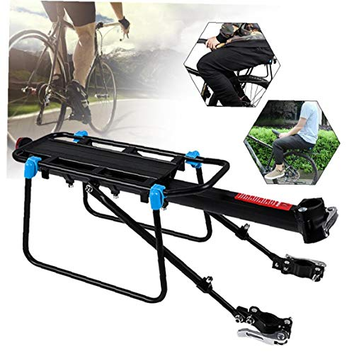 Mountain Bike Pannier Rack - Dégagement Rapide De Vélos, Bagages Cargo Rack Rack Réglable Cycle Porte-bagages Arrière, En Alliage D'aluminium De Charge 110 Lbs, Vtt Vélo Accessoires Avec Réflecteur