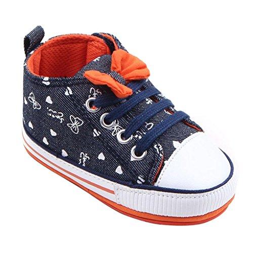 kingko® bébé Enfant Noir Unisexe pour bébé Garçons Filles Semelle Souple Chaussures Crib Sneakers (0-6 Mois)