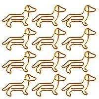 NUOLUX ペーパークリップ クリップ かわいい 50枚 色の 動物型の 犬形