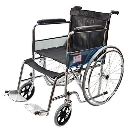 LLS Autopropulsado Silla de Ruedas - Silla de Movilidad de Silla de Ruedas Manual Plegable para discapacitados para Que los Ancianos faciliten Viajes Estabilidad confiable
