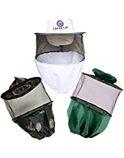 Hi-tech Natural Products (India) Bee Veil (White, Green and Army) -Combo of 3