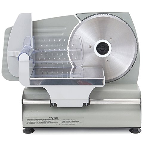 ARKSEN Premium Electric Meat Slicer 7.5' inch Blade Home Deli Meat Food Home Kitchen Stainless Steel, 180 Watt