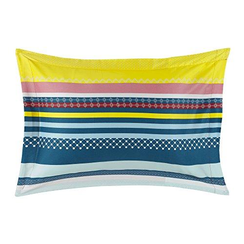 Essix - Taie d'oreiller Alegria Satin de coton Multicolore 50 x 75 cm