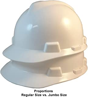 Texas America Safety Company MSA Cap Style LARGE SIZE V-Gard Hard Hat with Staz-On Suspension and Handy Tote Bag - White