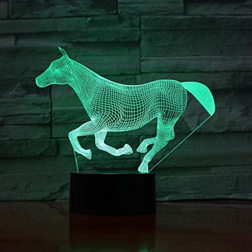 3d leuchtender Mädchenjunge 7 Colors Changing Animal LED Night light runing Horse 3D Desk Table Lamp USB Baby Kid Birthday Gift 7 Farben berühren