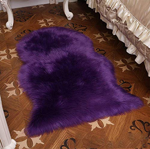 Alfombra de piel de oveja sintética supersuave, suave, suave, suave, para sala de estar, dormitorio, suelo de felpa, color blanco, alfombra de piel sintética, para mesilla de noche, C3,200 x 190 cm