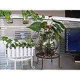 COM-SHOT 【 おしゃれ デザイン 】 鉄製 プランター ラック 壁面 取付 ver 6 花 植物 【 ブラウン 】 MI-NIWA08-BR