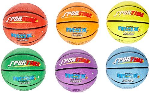 Lowest Price! SportimeMax Junior Basketballs, 27 Inches, Multiple Colors, Set of 6 (Тhrее Расk...