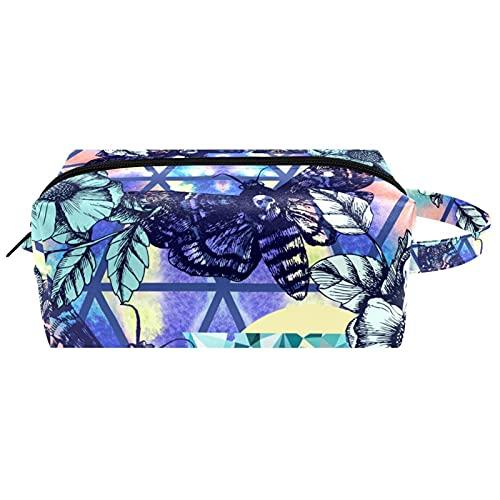 Kosmetik-Organizer-Tasche für Mädchen, tragbare Make-up-Taschen für Damen, zum Aufhängen, Kulturbeutel, Textur von Ölfarben
