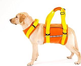 With(ウィズ) 歩行補助ハーネス LaLaWalk 大型犬用 ネオプレーンオレンジ L サイズ
