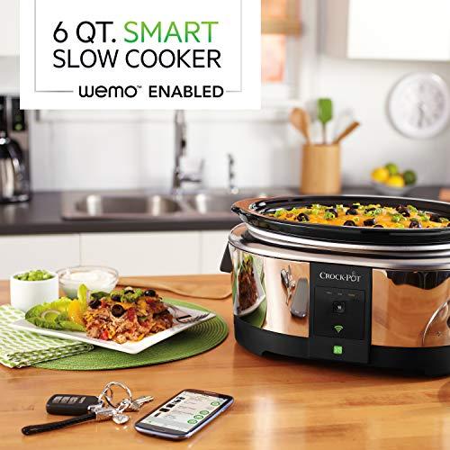 Product Image 9: Crock-Pot 6-Quart WeMo-Enabled Smart Slow Cooker, Stainless Steel