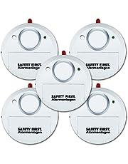 kh security glazen breukalarm, set van 5, wit, 100161set5