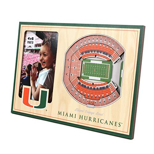 YouTheFan NCAA Miami Hurricanes 3D StadionView Bilderrahmen