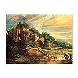 Kunstdruck Poster - Peter Paul Rubens Landschaft mit den